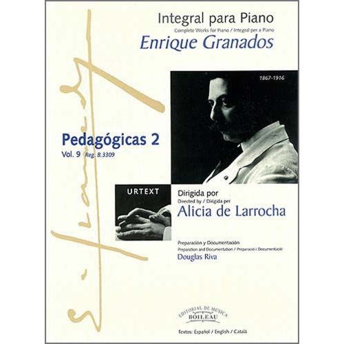 BOILEAU GRANADOS E. - INTEGRALE DE L'OEUVRE POUR PIANO : PEDAGOGICAS 2