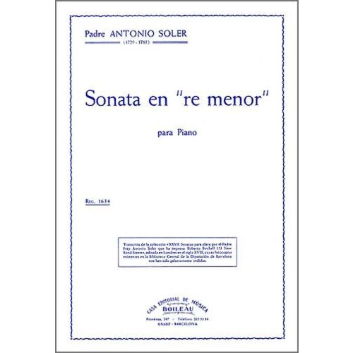 BOILEAU SOLER P.A. - SONATE EN RE MINEUR, ALLEGRO - CLAVECIN