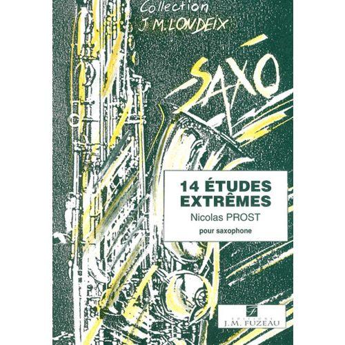 ANNE FUZEAU PRODUCTIONS PROST NICOLAS - 14 ETUDES EXTREMES - SAXOPHONE