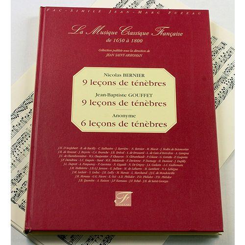 ANNE FUZEAU PRODUCTIONS BERNIER N./GOUFFET J.B. - 9 LECONS DE TENEBRES - FAC-SIMILE FUZEAU