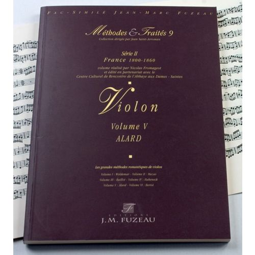 ANNE FUZEAU PRODUCTIONS ALLARD D. - METHODES ET TRAITES VIOLON VOL.5 SERIE II, FRANCE 1800-1860 - FAC-SIMILE FUZEAU