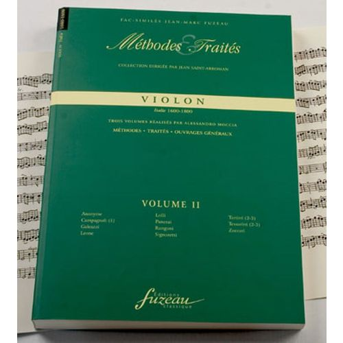 ANNE FUZEAU PRODUCTIONS MOCCIA A. - METHODES ET TRAITES VIOLON VOL.2 SERIE IV, ITALIE 1600-1800 - FAC-SIMILE FUZEAU