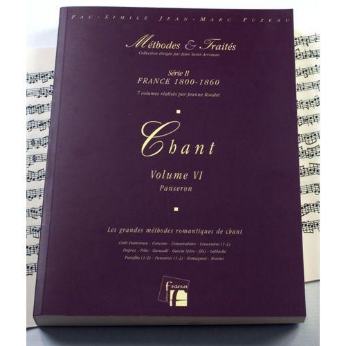 ANNE FUZEAU PRODUCTIONS ROUDET J. - METHODES ET TRAITES CHANT VOL.6 SERIE II, FRANCE 1800-1860 - FAC-SIMILE FUZEAU