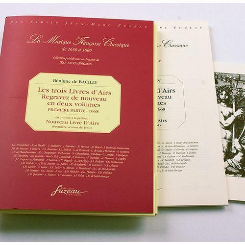 ANNE FUZEAU PRODUCTIONS BACILLY B. DE - III. LIVRE DE CHANSONS POUR DANSER ET POUR BOIRE, 1665 - FAC-SIMILE FUZEAU