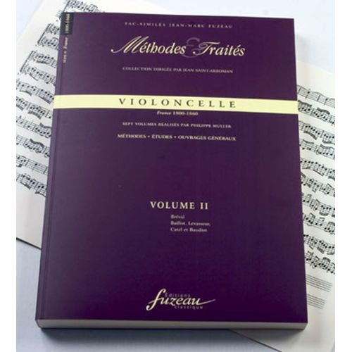 ANNE FUZEAU PRODUCTIONS MULLER P. - METHODES ET TRAITES VIOLONCELLE VOL.2 SERIE II, FRANCE 1800-1860 - FAC-SIMILE FUZEAU