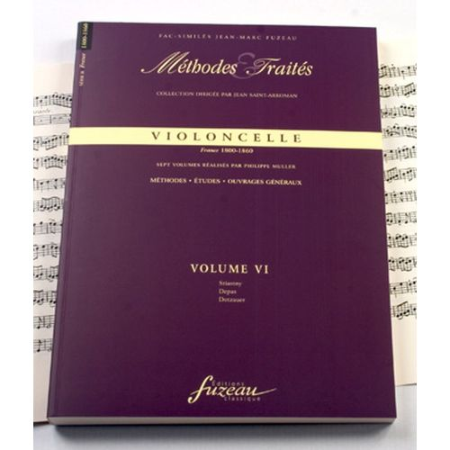ANNE FUZEAU PRODUCTIONS MULLER P. - METHODES ET TRAITES VIOLONCELLE VOL.6 SERIE II, FRANCE 1800-1860 - FAC-SIMILE FUZEAU