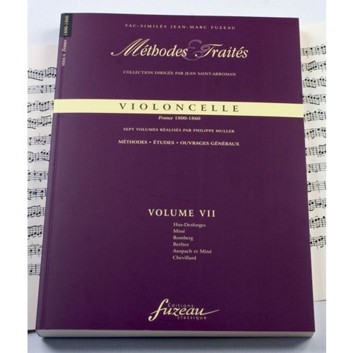 ANNE FUZEAU PRODUCTIONS MULLER P. - METHODES ET TRAITES VIOLONCELLE VOL.7, SERIE II FRANCE 1800-1860 - FAC-SIMILE FUZEAU