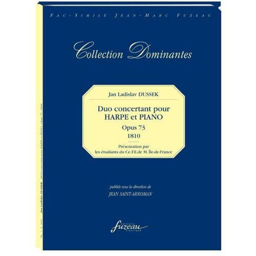 ANNE FUZEAU PRODUCTIONS DUSSEK J.L. - DUO CONCERTANT POUR HARPE ET PIANO, OPUS 73, 1810 - FAC-SIMILE FUZEAU