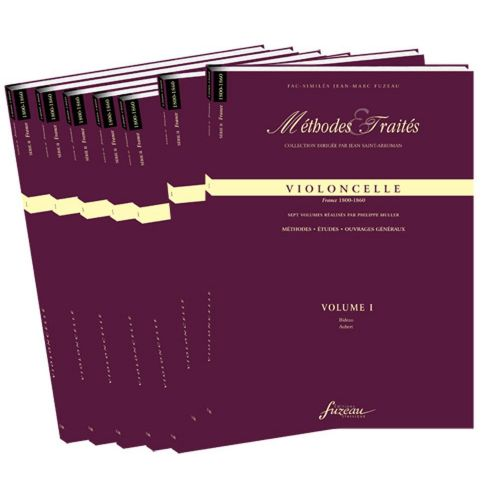 ANNE FUZEAU PRODUCTIONS MULLER P. - METHODES ET TRAITES VIOLONCELLE 7 VOLUMES, SERIE II FRANCE 1800-1860 - FAC-SIMILE FUZEAU