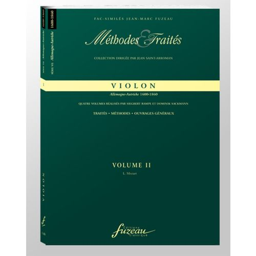 ANNE FUZEAU PRODUCTIONS RAMPE S./SACKMANN D. - METHODES ET TRAITES VIOLON VOL.2, SERIE VII ALLEMAGNE-AUTRICHE - 1600-1800