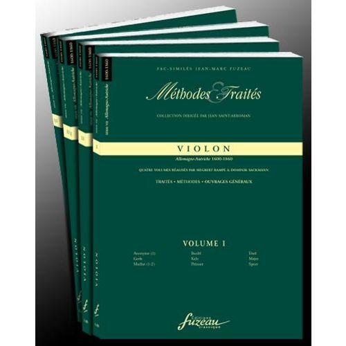 ANNE FUZEAU PRODUCTIONS RAMPE S./SACKMANN D. - METHODES ET TRAITES VIOLON 4 VOLUMES, SERIE VII ALLEMAGNE-AUTRICHE - 1600-180