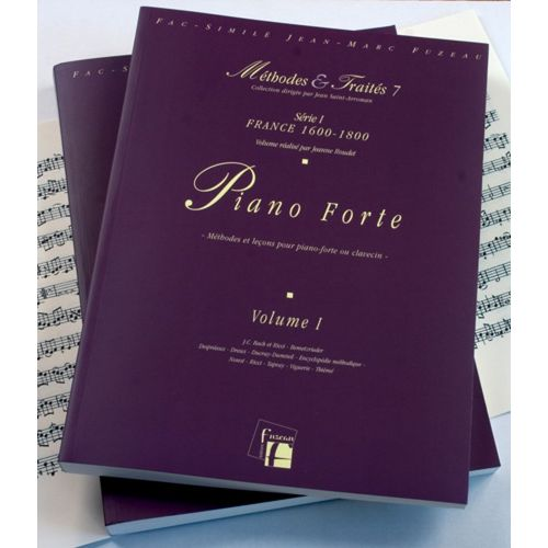ANNE FUZEAU PRODUCTIONS ROUDET J. - METHODES ET TRAITES PIANO FORTE 2 VOLUMES, SERIE I FRANCE 1600-1800 - FAC-SIMILE FUZEAU