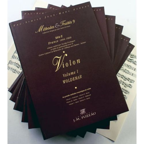 ANNE FUZEAU PRODUCTIONS FROMAGEOT N. - METHODES ET TRAITES VIOLON 6 VOLUMES, SERIE II - FRANCE 1800-1860 - FAC-SIMILE FUZEAU