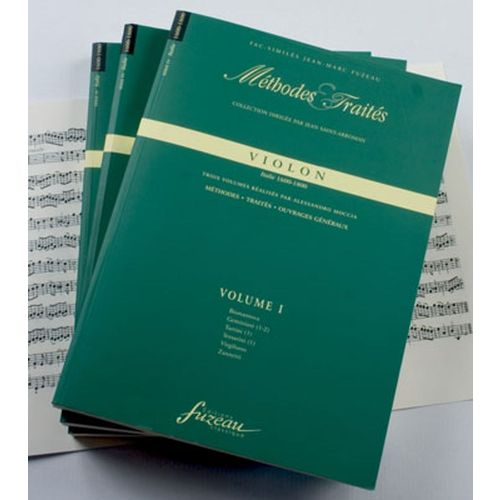 ANNE FUZEAU PRODUCTIONS MOCCIA A. - METHODES ET TRAITES VIOLON 3 VOLUMES, SERIE IV ITALIE 1600-1800 - FAC-SIMILE FUZEAU