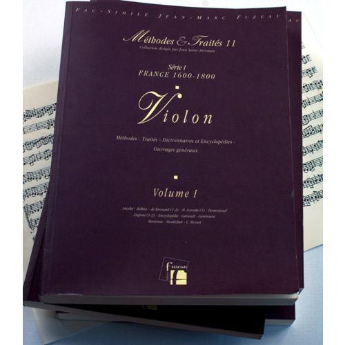 ANNE FUZEAU PRODUCTIONS LESCAT P./SAINT-ARROMAN J. - METHODES ET TRAITES VIOLON 4 VOLUMES, SERIE I FRANCE 1600-1800