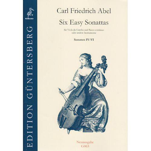 GUNTERSBERG ABEL CARL FRIEDRICH - Six Easy Sonattas (IV-VI)