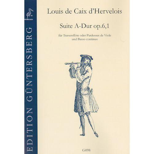 GUNTERSBERG Louis de Caix d'Hervelois, (1680-1760): Suite A-Dur op. 6,1