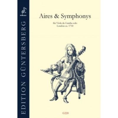 GUNTERSBERG ANONYM, LONDON 1710 - AIRES & SYMPHONY - VIOLE DE GAMBE SOLO
