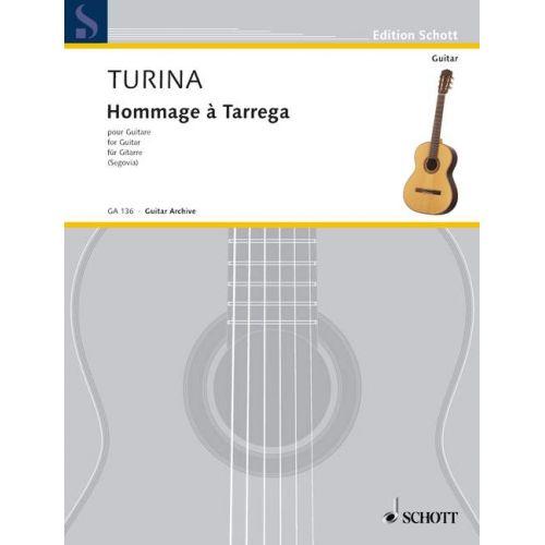 SCHOTT TURINA JOAQUIN - HOMMAGE TARREGA OP. 69 - GUITAR