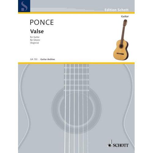 SCHOTT PONCE M.M. - VALSE - GUITAR