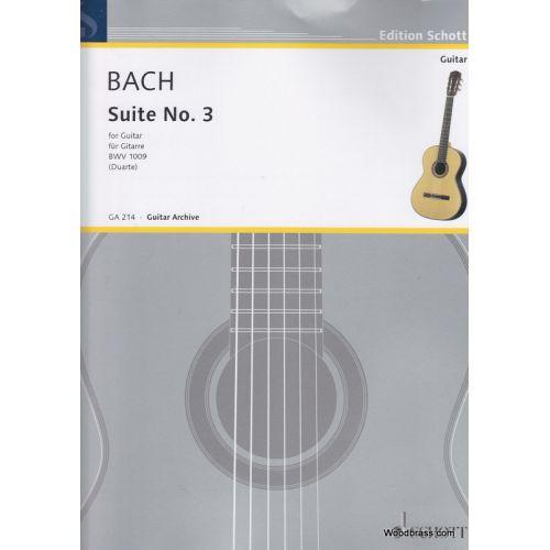 SCHOTT BACH J. S. - CELLO-SUITE N 3 - GUITARE