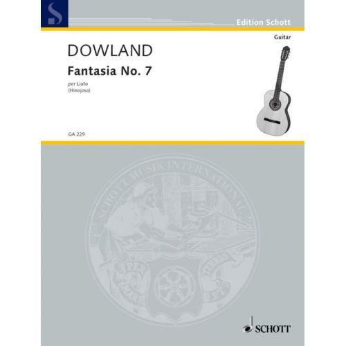 SCHOTT DOWLAND JOHN - FANTASIA NO. 7 - GUITAR