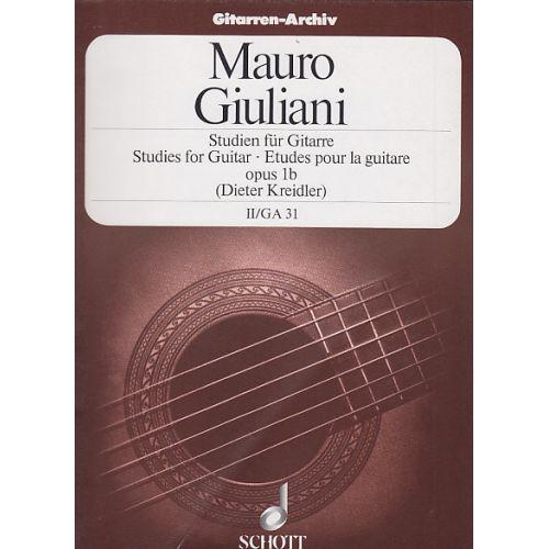 SCHOTT TUITION BOOK - GIULIANI MAURO - ETUDES VOL.2 (OP.1B)