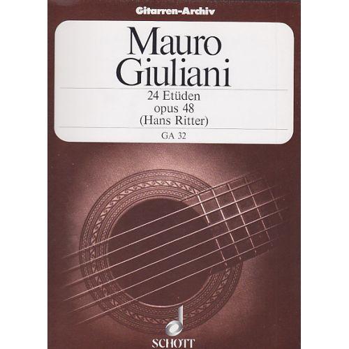 SCHOTT GIULIANI MAURO - 24 ETUDES OP.48 (HANS RITTER)