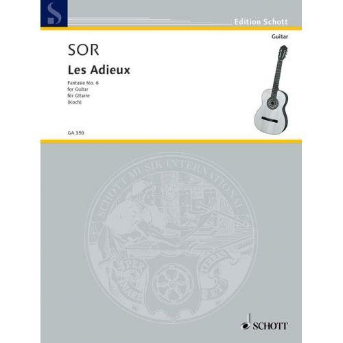 SCHOTT SOR FERNANDO - LES ADIEUX OP. 21 - GUITAR