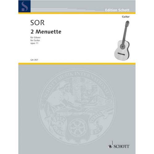 SCHOTT SOR FERNANDO - 2 MENUETS AUS OP. 11/5 UND 6 - GUITAR