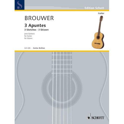 SCHOTT BROUWER LEO - 3 SKETCHES - GUITAR