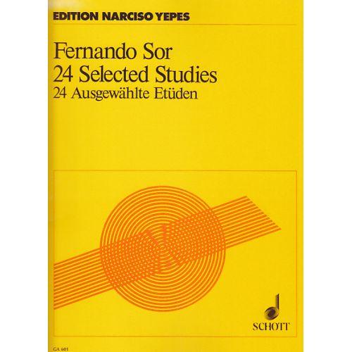 SCHOTT SOR FERNANDO - 24 SELECTED STUDIES