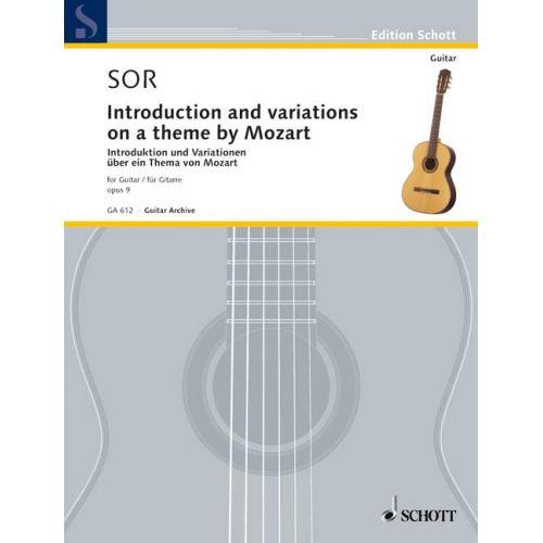 SCHOTT SOR FERNANDO - INTRODUCTION ET VARIATIONS SUR UN THEME DE MOZART OP.9 - GUITAR
