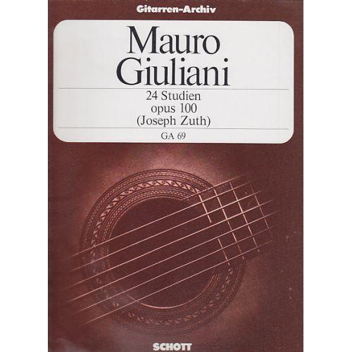 SCHOTT GIULIANI MAURO - 24 ETUDES OP.100 (ZUTH)