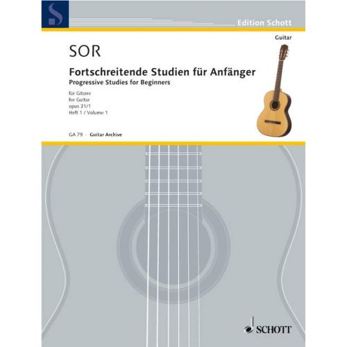 SCHOTT SOR FERNANDO - 24 PROGRESSIVE STUDIES FOR BEGINNERS OP. 31 HEFT 1 - GUITAR