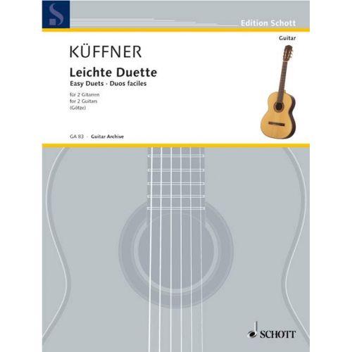 SCHOTT KFFNER JOSEPH - EASY DUETS - 2 GUITARS