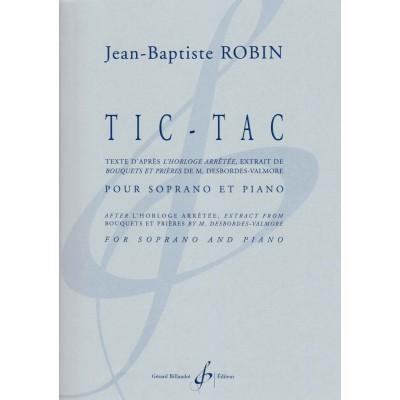 BILLAUDOT ROBIN JEAN-BAPTISTE - TIC TAC - SOPRANO & PIANO