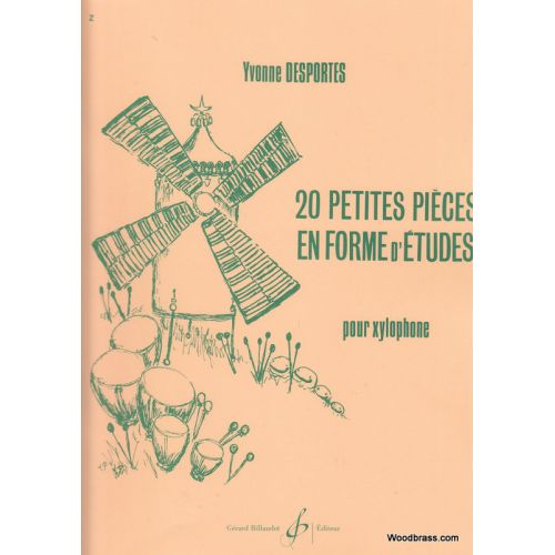 BILLAUDOT DESPORTES YVONNE - 20 PETITES PIECES EN FORME D'ETUDES - PERCUSSION