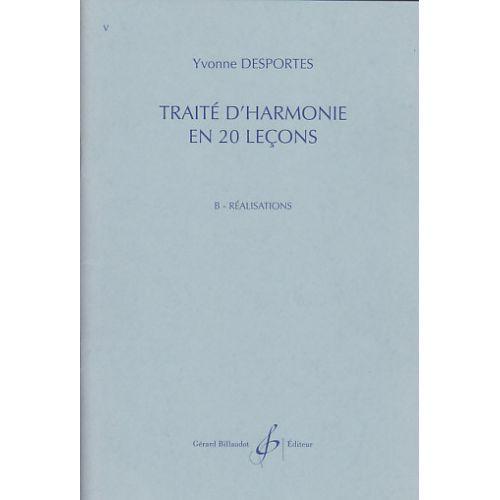BILLAUDOT DESPORTES YVONNE - TRAITE D'HARMONIE EN 20 LEÇONS, REALISATIONS