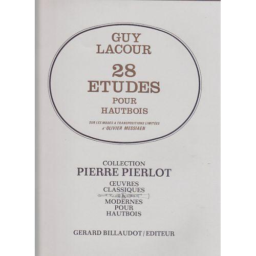 BILLAUDOT LACOUR GUY - 28 ETUDES SUR LES MODES A TRANSPOSITION LIMITEES D'OLIVIER MESSIAEN