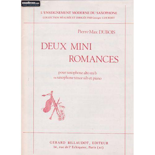 BILLAUDOT DUBOIS P.M. - 2 MINI ROMANCES - SAXOPHONE, PIANO