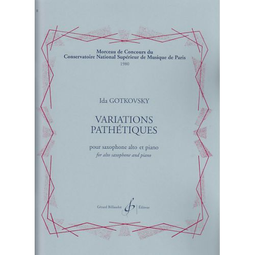 BILLAUDOT GOTKOVSKY I. - VARIATIONS PATHETIQUES - SAXOPHONE, PIANO