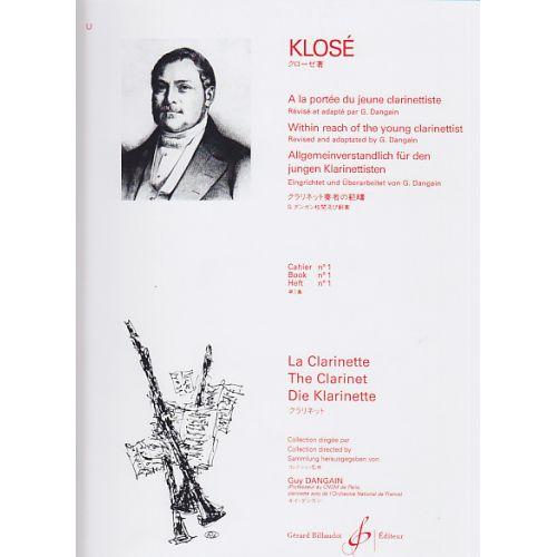 BILLAUDOT KLOSE HYACINTE - A LA PORTEE DU JEUNE CLARINETTISTE VOL.1
