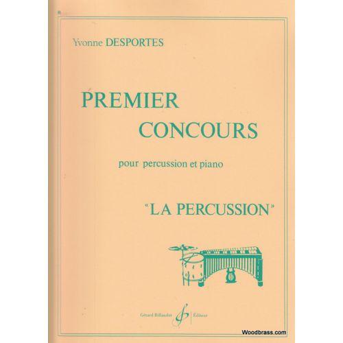 BILLAUDOT DESPORTES YVONNE - PREMIER CONCOURS - PERCUSSION, PIANO