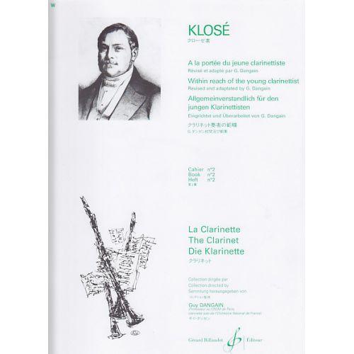 BILLAUDOT KLOSE - A LA PORTEE DU JEUNE CLARINETTISTE VOL.2