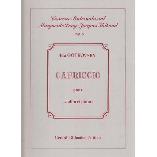 BILLAUDOT GOTGOVSKY I. - CAPRICCIO - VIOLON ET PIANO