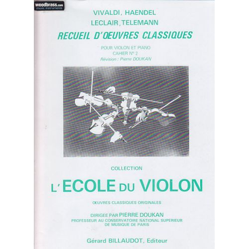 BILLAUDOT DOUKAN PIERRE - RECUEIL D'OEUVRES CLASSIQUES VOL.2 - VIOLON, PIANO