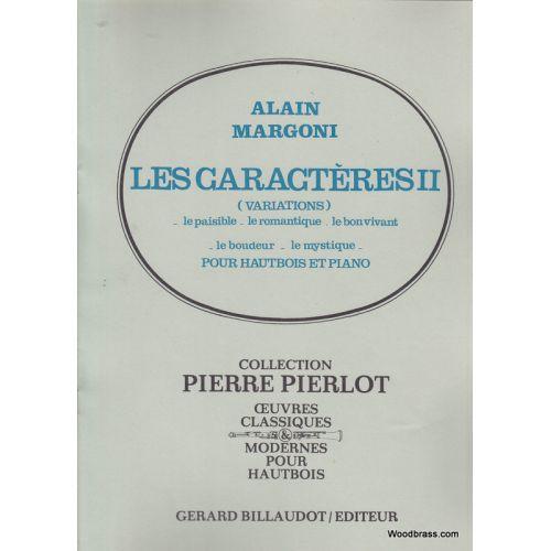 BILLAUDOT MARGONI A. - LES CARACTERES 2 - HAUTBOIS ET PIANO