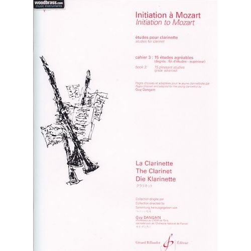 BILLAUDOT DANGAIN GUY - INITIATION A MOZART VOL.3 (ETUDES) - CLARINETTE