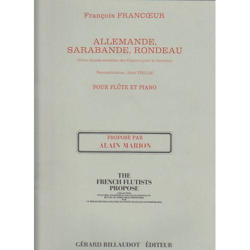 BILLAUDOT FRANCOEUR F. - 3 DANSES DES CAHIERS POUR CLAV. - FLUTE